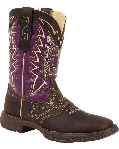 Durango Lady Rebel Let Love Fly Cowgirl Boots - Square Toe