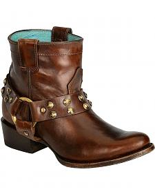 Corral Sierra Studded Harness Ankle Boots -Round Toe