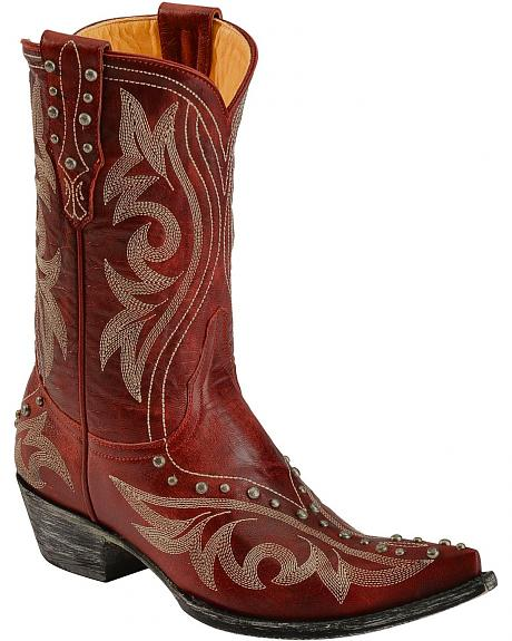 Old Gringo Marcelina Studded & Embroidered Cowgirl Boots - Pointed Toe