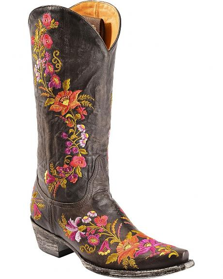 Old Gringo Jasmine Floral Embroidered Cowgirl Boots - Snip Toe
