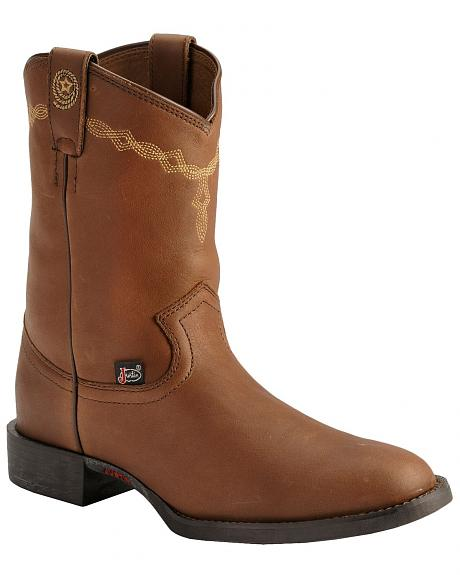 Justin Roper Cowgirl Boots - Round Toe