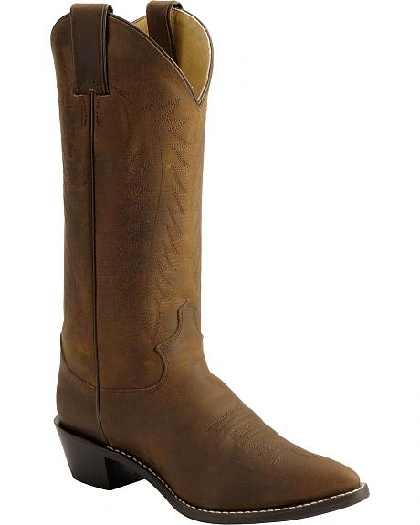 Justin Bay Apache Western Cowgirl Boots - Pointed Toe
