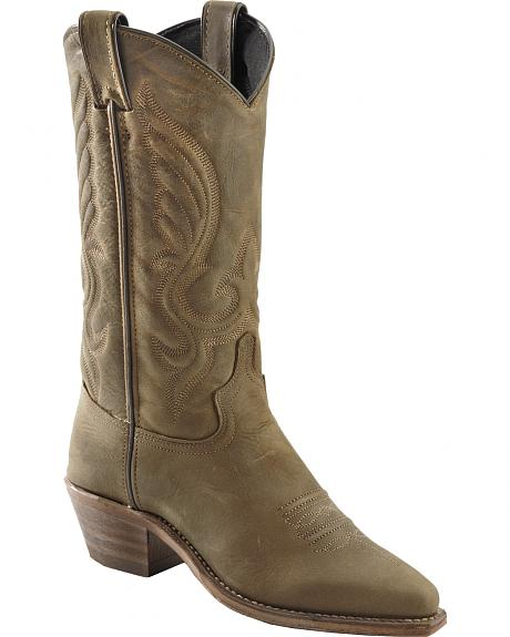 Abilene Oiled Cowhide Cowgirl Boots - Pointed Toe
