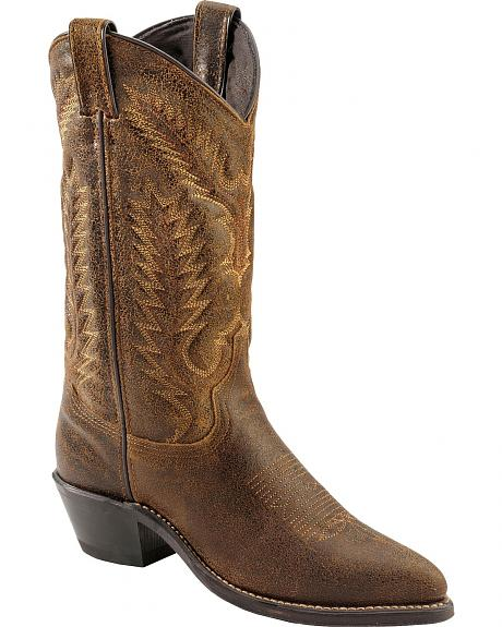 Abilene Fleshout Stitching Cowgirl Boots - Pointed Toe