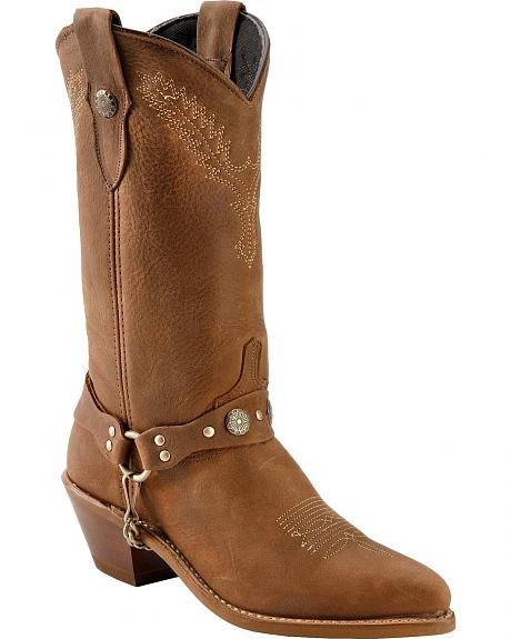 Abilene Fashion Harness Cowgirl Boots - Pointed Toe