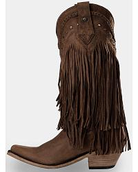 Liberty Black Vegas Fringe Boots - Pointed Toe at Sheplers