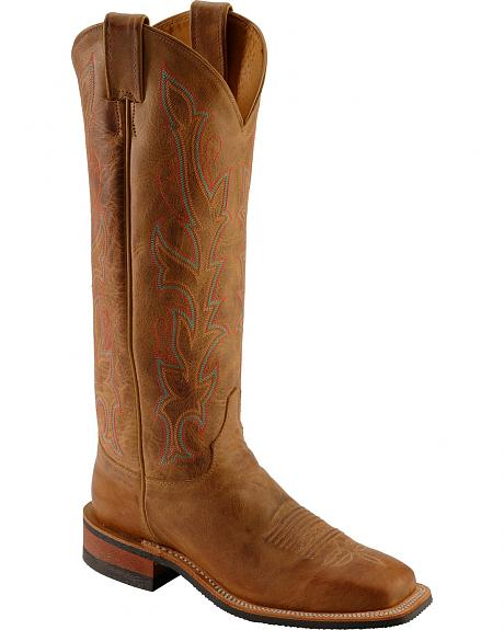 Justin America Cowhide Cowgirl Boots - Square Toe