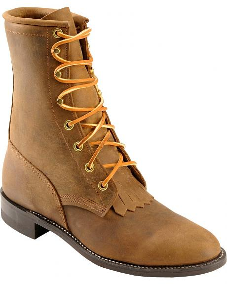 Justin Lacer Cowgirl Boots - Round Toe