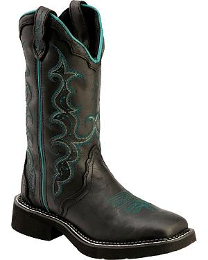 Justin Crazy Horse Gypsy Cowgirl Boots - Square Toe