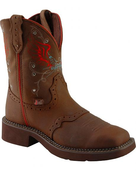 Justin Aged Bark Gypsy Boots - Square Toe