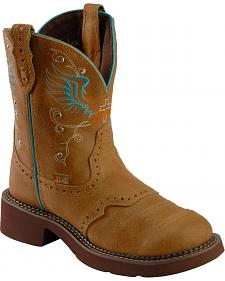 Justin Wing Stitched Gypsy Boots - Round Toe