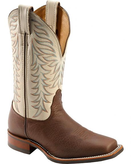 Nocona Legacy Worn Saddle Cowgirl Boots - Square Toe