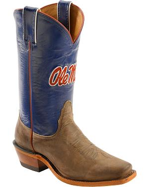 Nocona Womens University of Mississippi College Boots - Snip Toe
