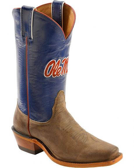 Nocona Women's University of Mississippi College Boots - Snip Toe