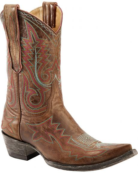Old Gringo Brown Re-Nevada Cowgirl Boots - Snip Toe