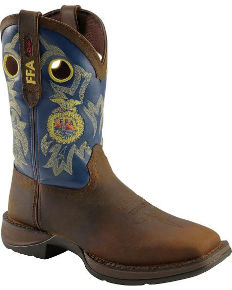 Durango Lady Rebel FFA Embroidered Cowgirl Boots - Square Toe