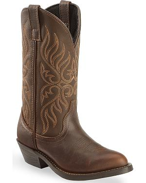 Laredo Copper Kettle Cowgirl Boots - Round Toe