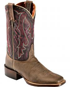 Red Ranch Eggplant Cowgirl Boots - Square Toe