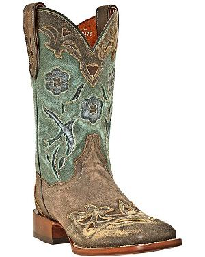 Dan Post Blue Bird Cowgirl Boots - Square Toe