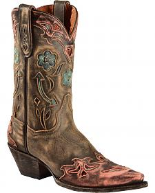 Dan Post Blue Arrow Cowgirl Boots - Snip Toe