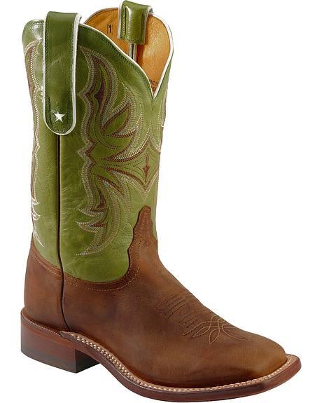Tony Lama San Saba Antique Vintage Goat Cowgirl Boots - Square Toe