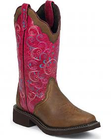 Justin Gypsy Bay Apache Cowgirl Boots - Square Toe