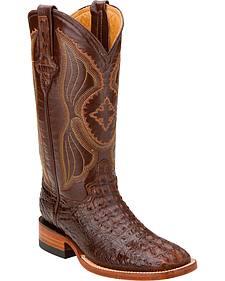 Ferrini Hornback Caiman Cowgirl Boots - Square Toe