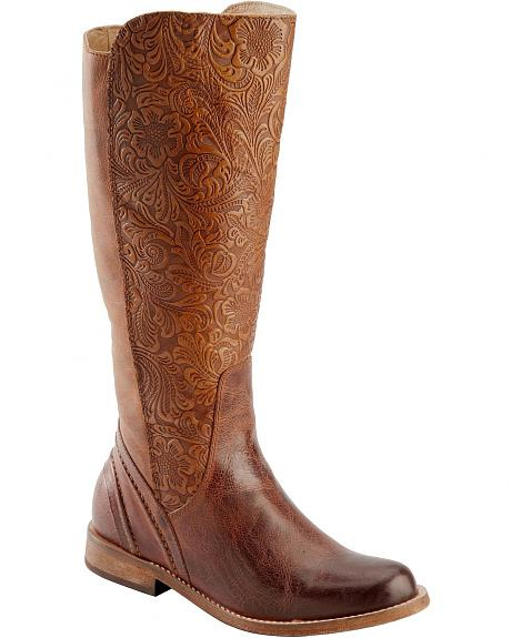 Spirit by Lucchese Virginia Embossed Riding Boots - Round Toe