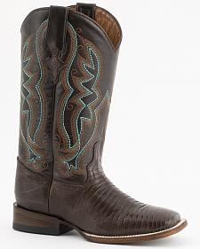 Ferrini Teju Lizard Cowgirl Boots - Wide Square Toe