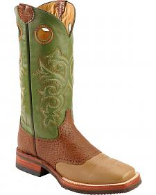Ferrini Bison Saddle Vamp Cowgirl Boots - Wide Square Toe