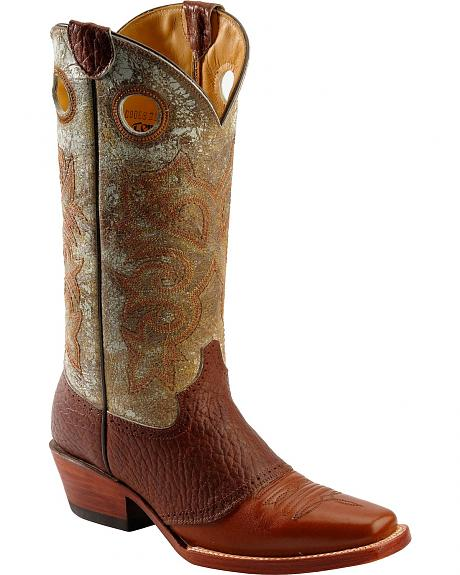 Ferrini Bison Saddle Vamp Cowgirl Boots - Narrow Square Toe