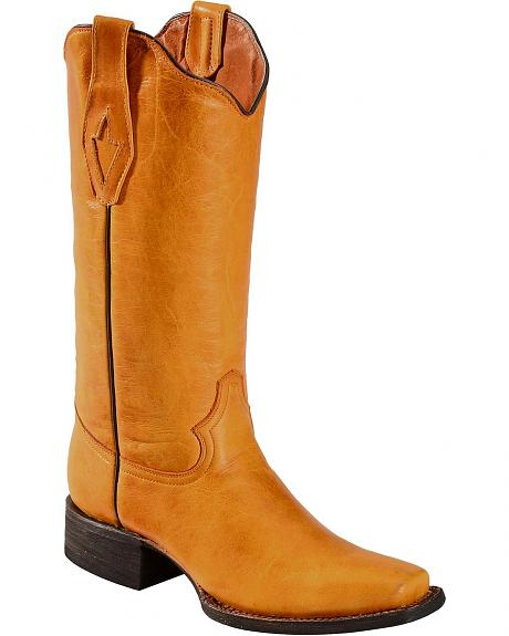 Tanner Mark Barcelona Buttercup Cowgirl Boots - Square Toe