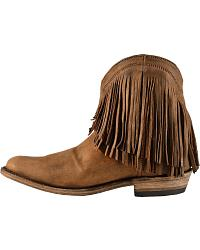 Liberty Black Short Fringe Vegas Boots - Round Toe at Sheplers