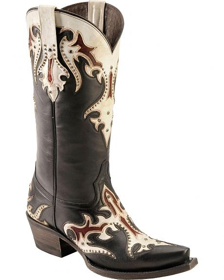 Lucchese 1883 Calfskin Diabla Cowgirl Boots - Snip Toe