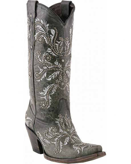 Lucchese Handcrafted 1883 Angelina Swarovski Crystal Cowgirl Boots - Snip Toe