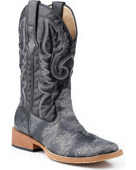 Roper Faux Stingray Cowgirl Boots - Square Toe