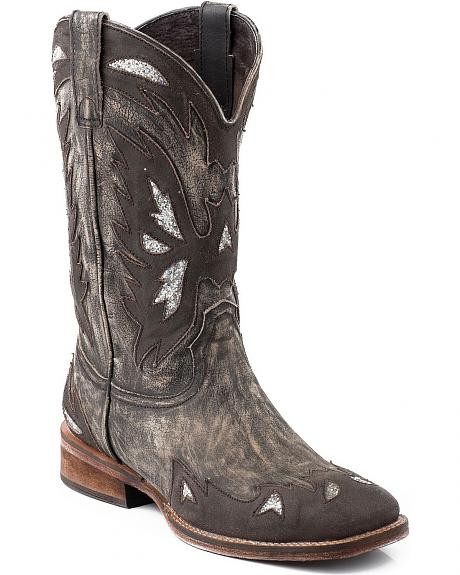 Roper Vintage Eagle Overlay Cowgirl Boots - Square Toe