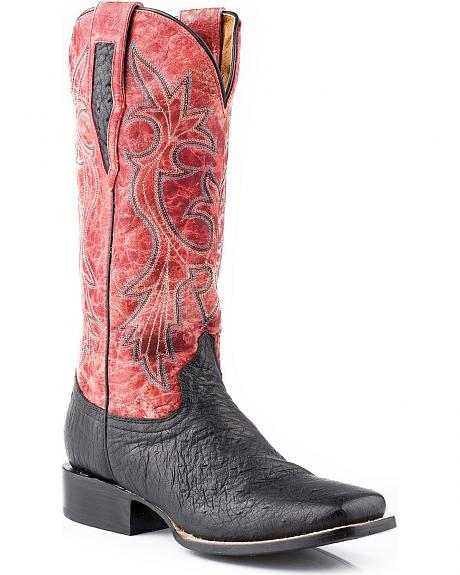 Roper Smooth Quill Ostrich Cowgirl Boots - Square Toe