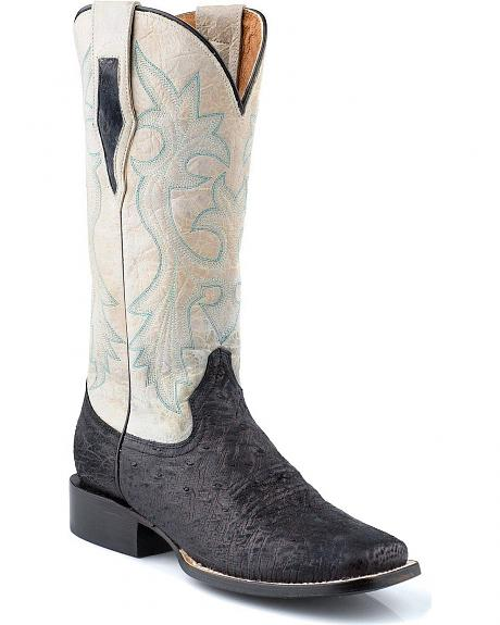 Roper Smooth Ostrich Cowgirl Boots - Square Toe
