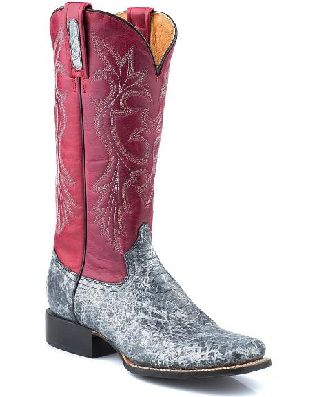 Roper Python Print Cowgirl Boots - Square Toe