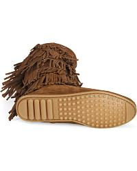 Minnetonka Fringed Suede Leather Boots at Sheplers