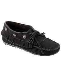 Minnetonka Fringed Suede Moccasins at Sheplers