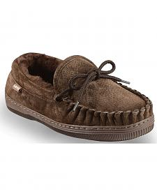 Chestnut Women's Leather Moccasin Slippers