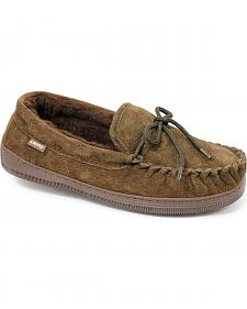 Chestnut Men's Leather Moccasin Slippers