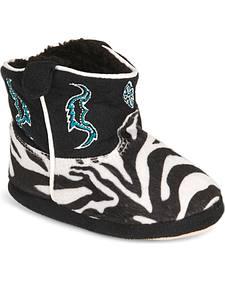 Montana Silversmiths Toddler Boys' Zebra Cowboy Kickers - (9-12)