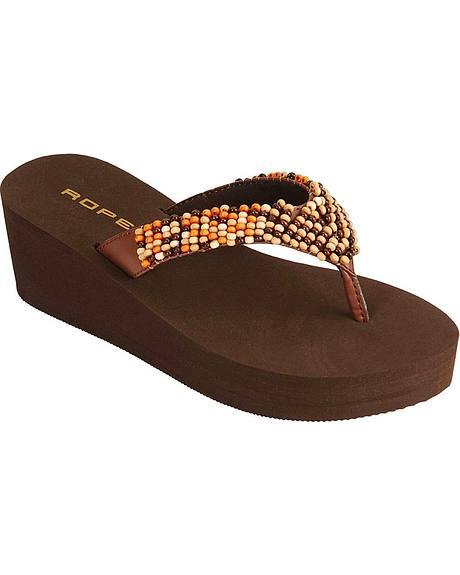 Roper Beaded Thong Sandals