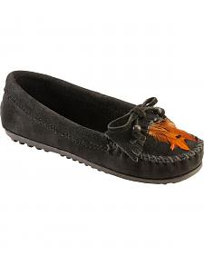 Minnetonka Beads & Feathers Moccasins