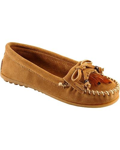 Minnetonka Beads & Feathers Moccasins Western & Country 467