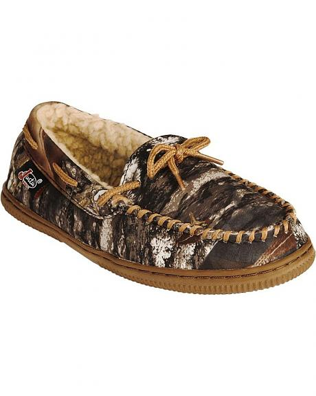 Justin Boys' Camouflage Moccasins