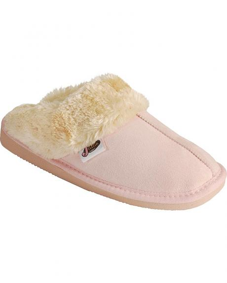 Justin Ladies' Pink Slide-On Slippers